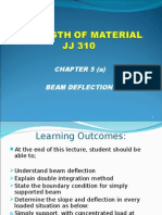 JJ310 STRENGTH OF MATERIAL Chapter 5(a) Beam Deflection