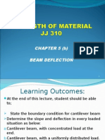 JJ310 STRENGTH OF MATERIAL Chapter 5(b) Beam Deflection