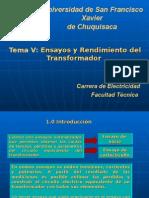 Tema 5 - Transformadores Facultad Tecnica