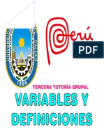 3 Variables y Definiciones