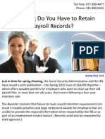 How Long Do You Have to Retain Payroll Records?
