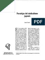 Paradojas Del Sindicalismo Japonés