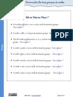 Exercices Groupe Verbe