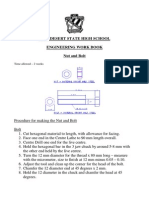 Procedure for Making the Nut and Bolt