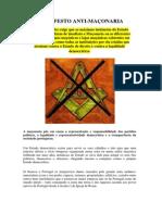 Manifesto Anti-Maçonaria by O BAR DO ALCIDES