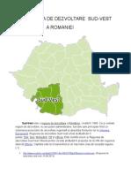 regiunea de dezvoltare sud vest romania