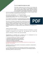 Acta de Constitucion 001