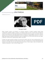 -- El Kirchnerismo y Milton Friedman - Blogs Lanacion