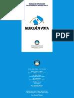 Manual de Capacitacion de Autoridades de Mesa Electoral Neuquen PDF
