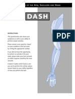 Disability of the Arm, Shoulder and Hand (DASH)