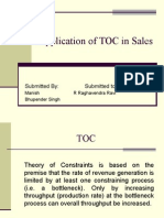 Application of TOC in Sales