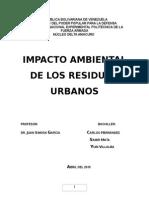 Impacto Ambielta de Los Residuos Urbanos