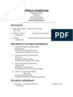 armstrong resume