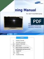 Samsung Training Manual Led TV Uexxes7000 Uexxes7500 En