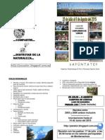 Díptico informativo Campamento Panator 2015