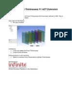 DM DeletFaceThicknesses ACT Extension Description v160 v1