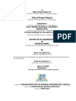 Major Project 8 Sem 2015 Sample