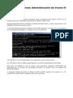Ejercicios Administración de Oracle III