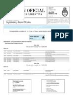 Publicaciones de Editoriales en Boletin Oficial