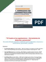 Jornada Administración - El Fraude en Las Organizaciones