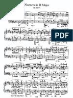 Nocturne in B Major, Op. 62 #1