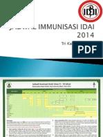 Jadwal Immunisasi Idai 2014