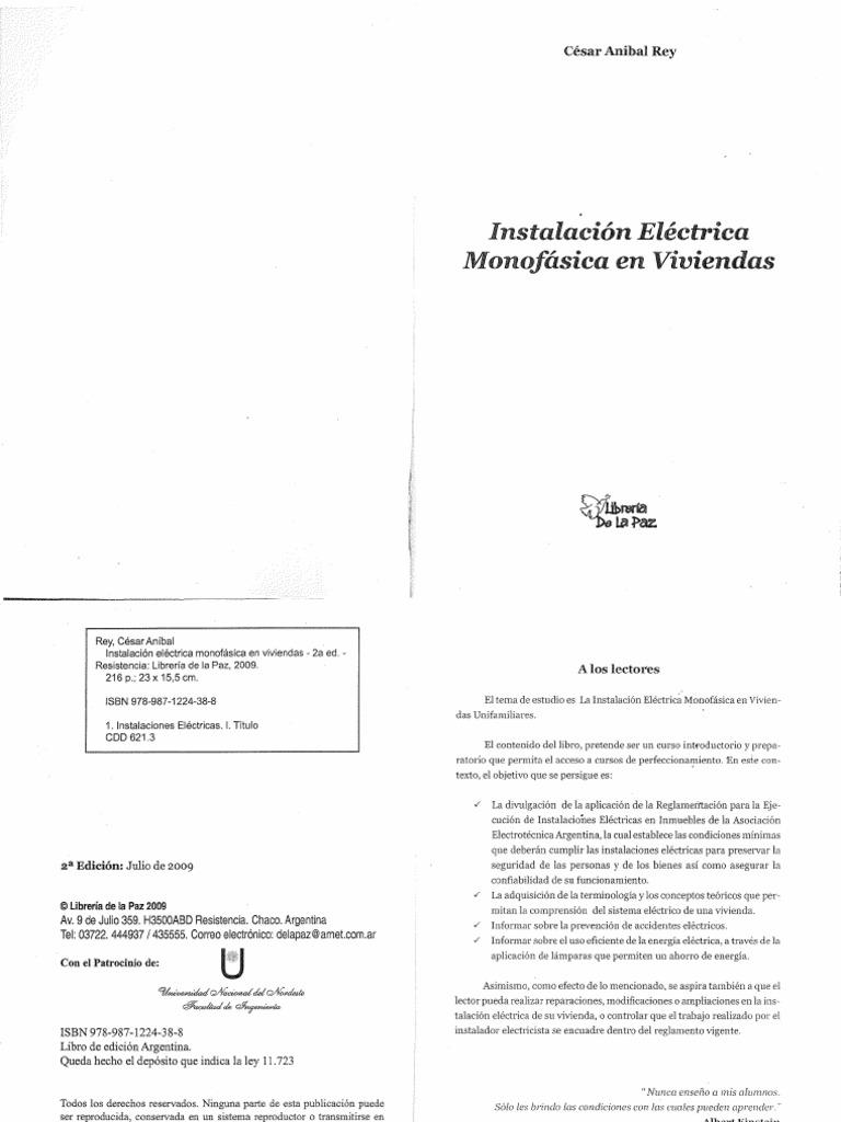 instalacion electrica Monofasica de Vivienda - Cesar Anibal Rey