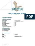 Waterloo School District MSHS Collection Analysis Feb 2015