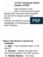 Risk Factors for Coronary Heart Disease (CHD