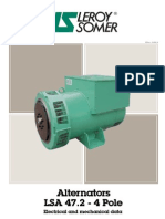 Leroy Somer Alternator Datasheet LSA 47.2 - 4 Pole