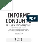 Informe Conjunto de La Mesa de Conversaciones. Desarrollo Agrario Integral y Participación Política