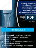 Airway reaction and emergence times