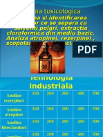 Analiza Atropinei, Hiosciaminei, Scopolaminei Si Rezerpinei
