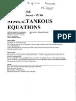 87 simultaneous equations b grade answers