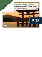 SAP HANA BusinessObjects Design Studio Applications - Deployment Options - Webinar Presentation