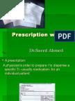 Prescription Writing