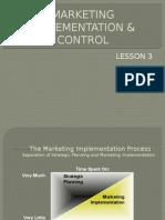 3.Marketing Implementation & Control