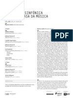 20140103 | Programa de Sala Orquestra Sinfónica do Porto Casa da Música | CONCERTO DE ANO NOVO