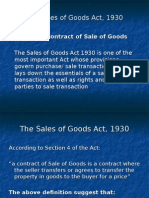 The Sales of Goods Act, 1930