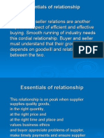 Buyer- Seller Relations