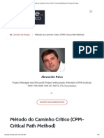 Método Do Caminho Crítico (CPM-Critical Path Method) _ Gerente de Projeto