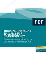 Striking the Right Balance for Transparency