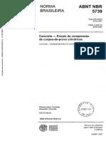 NBR 5739 07 - Concreto - Ensaio de compressão de corpos de prova cilíndricos.pdf