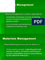 Integrated Materials Management