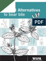 Herbal Alternatives to Bear Bile - WSPA