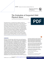 The Evaluation of Suspected Child Physical Abuse