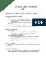 Civil Procedure - NC Distinctions Card Additions