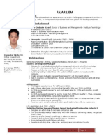 Fajar Liem's Resume