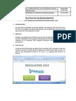 Instructivo Instructivo diligenciamiento Diligenciamiento de Resolucion 1552-V4