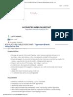 job application accounts payable assistant   tupperware brands malaysia sdn bhd - job